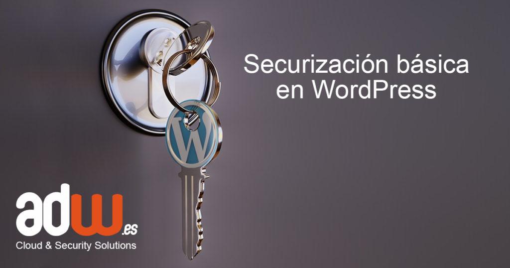 Securización básica en WordPress