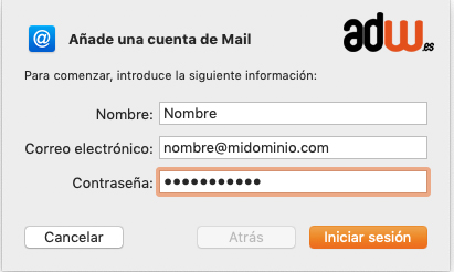 añadir cuenta mail