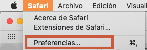 safari, preferencias