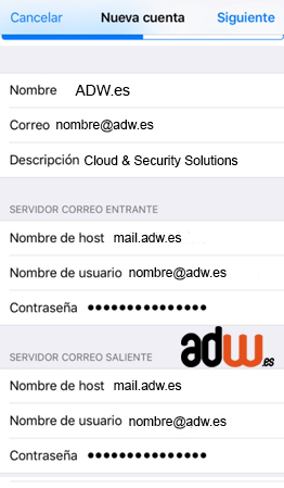 configuracion mail iphone iOS7