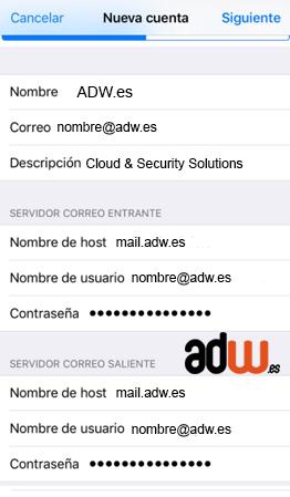 configuracion mail iphone iOS7