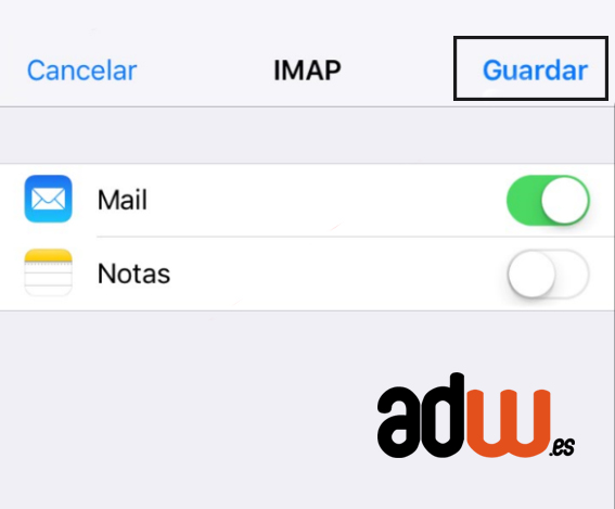 guardar configuracion iphone ios7