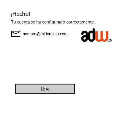 configuracion mail lista