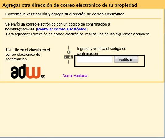 codigo de verificacion gmail